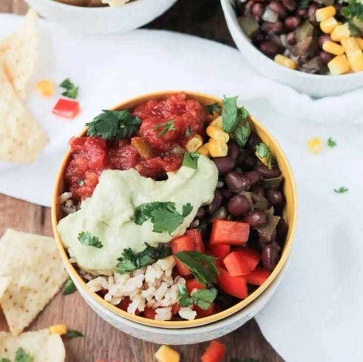 easy vegan burrito bowl recipe